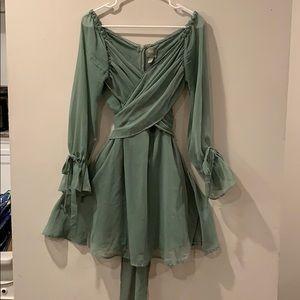 Mint/greenish asos dress